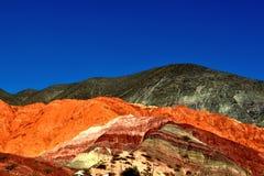 Montagnes colorées Photos libres de droits