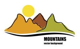 Montagnes colorées abstraites Illustration Stock