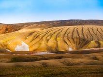 Montagnes colorées d'arc-en-ciel de Landmannalaugar Photo libre de droits