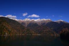 montagnes corses de montagne de lac de laque du creno de France de la Corse Image libre de droits