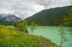 montagnes corses de montagne de lac de laque du creno de France de la Corse Photographie stock libre de droits