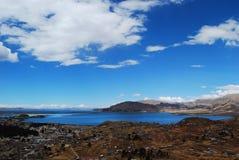 montagnes corses de montagne de lac de laque du creno de France de la Corse Photo libre de droits