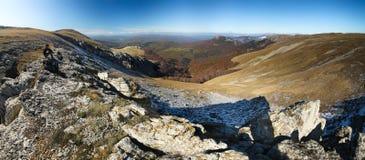 Montagnes criméennes ukrainiennes Photographie stock