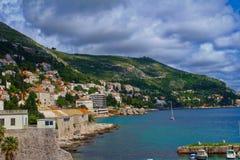 Montagnes croates près de Dubrovnik, Croatie photo libre de droits