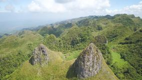 Montagnes d'île de Cebu clips vidéos