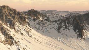 montagnes 3D photo stock