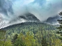 Montagnes d'Alpes en Bavière Allemagne Photographie stock libre de droits