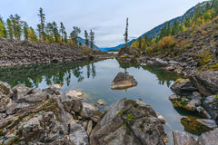 Montagnes d'Altai Photographie stock
