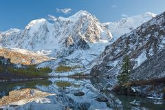 Montagnes d'Altai, Russie, Sibérie Photographie stock libre de droits