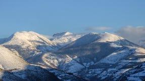 Montagnes d'Ancares couvertes de neige Photo libre de droits
