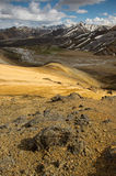 Montagnes d'arc-en-ciel dans Landmannalaugar, Islande Photos libres de droits
