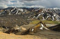 Montagnes d'arc-en-ciel, Islande Photo libre de droits