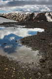 Montagnes d'arc-en-ciel, Islande Photographie stock