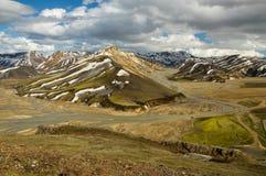 Montagnes d'arc-en-ciel, Islande Image libre de droits