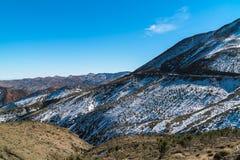 Montagnes d'atlas, montagnes célèbres du Maroc Image stock