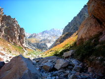 Montagnes d'automne Photographie stock