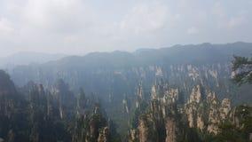 Montagnes d'avatar en parc national de Zhangjiajie photos libres de droits