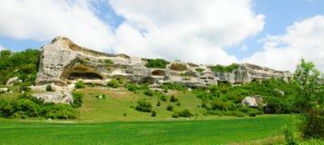 Montagnes d'Eski-Kermen Photographie stock libre de droits