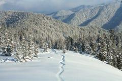 Montagnes d'hiver du lac Baïkal Photographie stock libre de droits