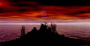 Montagnes d'Ilustration Image libre de droits