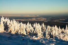Montagnes d'Ural en hiver Photographie stock