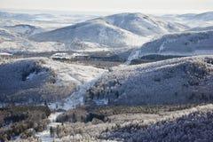 Montagnes d'Ural L'hiver Russie photographie stock