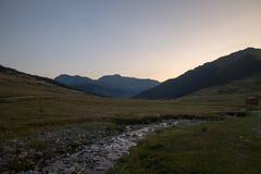 Montagnes dans Baqueira en été, Valle de Aran photo stock
