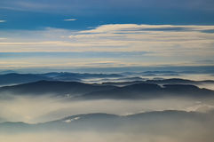 Montagnes dans beskydy Image stock