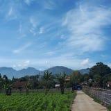 Montagnes dans Java occidental photo stock