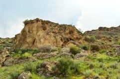 Montagnes dans Kadamzhay, Kirghizistan Photographie stock libre de droits