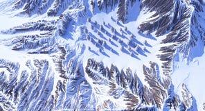 Montagnes dans la neige Images stock