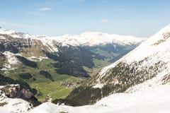 Montagnes dans la station de sports d'hiver Zillertal - Tirol Images stock