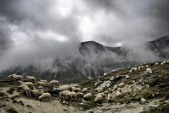 Montagnes dans la tempête Image libre de droits