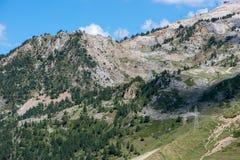 Montagnes dans le Bonaigua dans la vallée d'Aran, Pyrénées photographie stock libre de droits