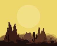 Montagnes dans le désert Images libres de droits