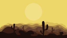 Montagnes dans le desert2 Images libres de droits