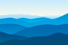 Montagnes dans le regain Photos libres de droits
