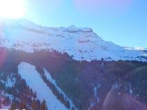 Montagnes dans les Alpes français Images stock