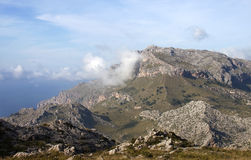 Montagnes dans Majorca - format CRU Image stock