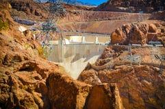 Montagnes de barrage de Hoover Images stock