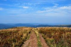 Montagnes de Bieszczady Photographie stock