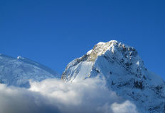 Montagnes de Blanca de Cordillère photos libres de droits