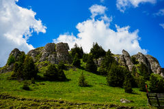 Montagnes de Bucegi, Roumanie Photos stock