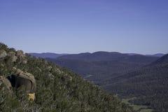 Montagnes de Bushland d'Australien images stock