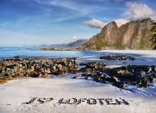 Montagnes de côte de paysage de la Norvège Photographie stock