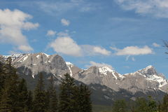 Montagnes de Canmore Alberta Photo stock