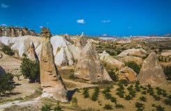 Montagnes de Cappadocia Photos libres de droits