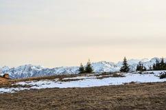 Montagnes de cascades dans la partie nord de l'Amérique Images libres de droits