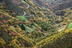Montagnes de Cervantes, scène de chute Images stock