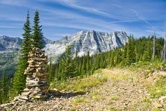 Montagnes de chaîne de lézard de Fernie Images libres de droits